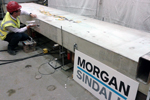 Large scale fibre reinforced concrete beam tests instrumentation project
